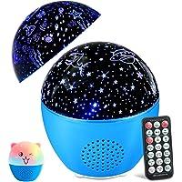 MOSUO Led-sterrenhemel, projectorlamp voor kinderen, muziek, nachtlampje, oceaan, sterrenlichtprojector, USB-oplaadbaar…
