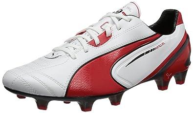 Puma King SL FG 102667, Herren Fußballschuhe, Weiß (metallic