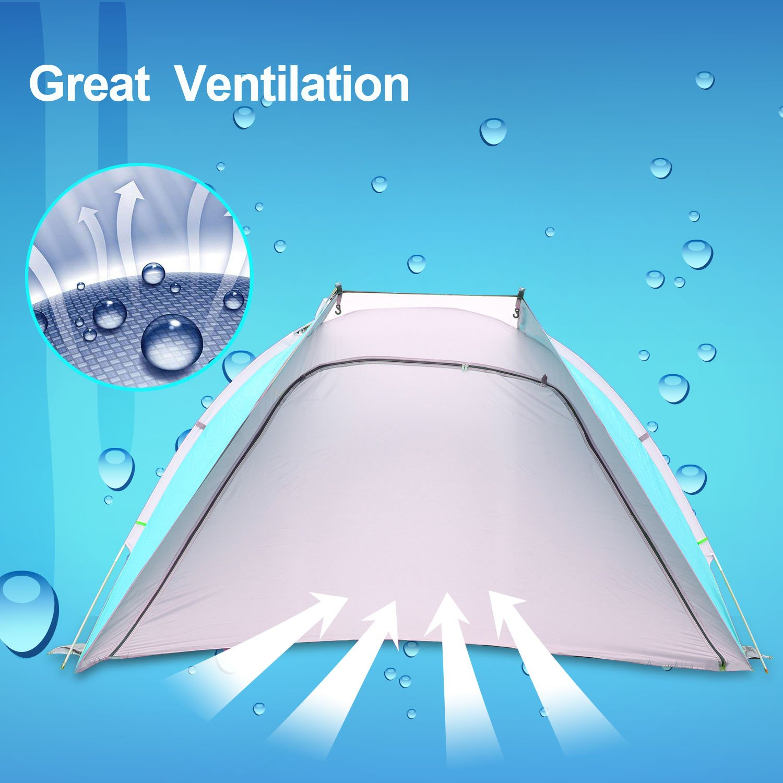 Starhome Tente de plage ultra l/ég/ère anti UV avec portes fermables Id/éal pour se prot/éger du soleil ou se changer