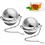 BESTONZON 2 Pcs Infusore a sfera da tè con gancio a catena in acciaio inossidabile