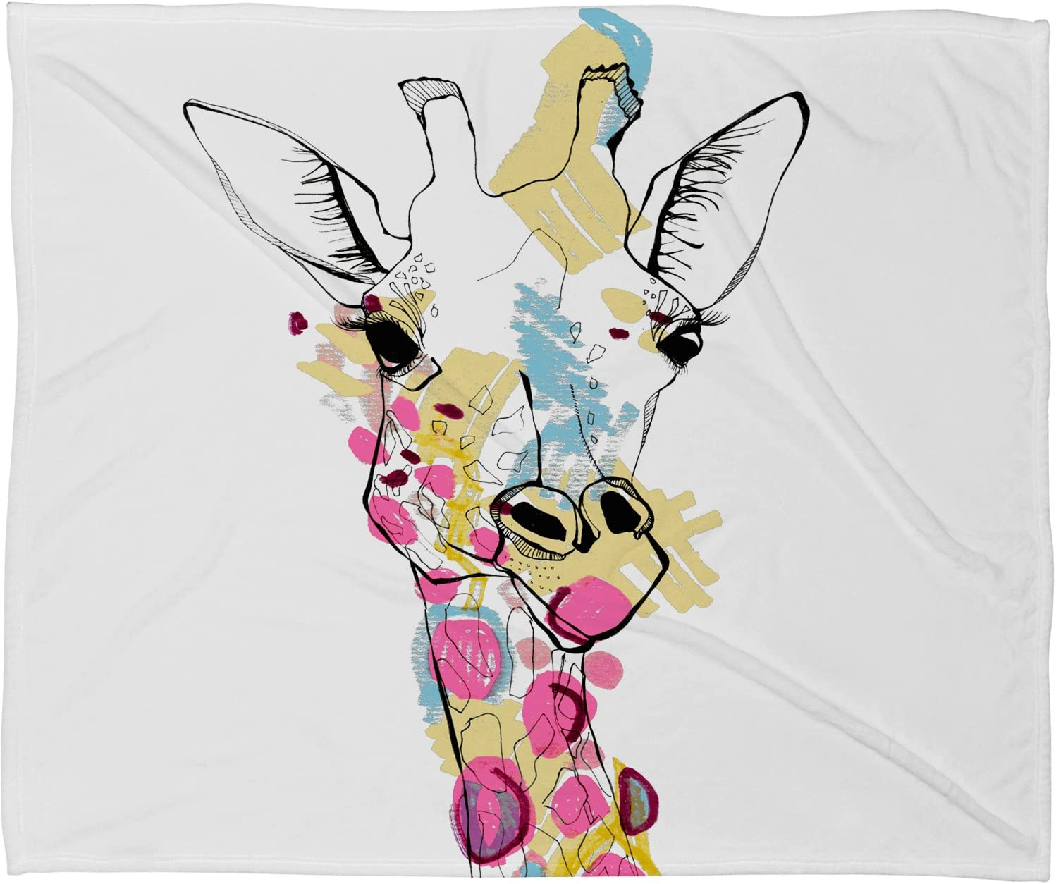 20 x 20 Deny Designs Casey Rogers Giraffe Color Throw Pillow