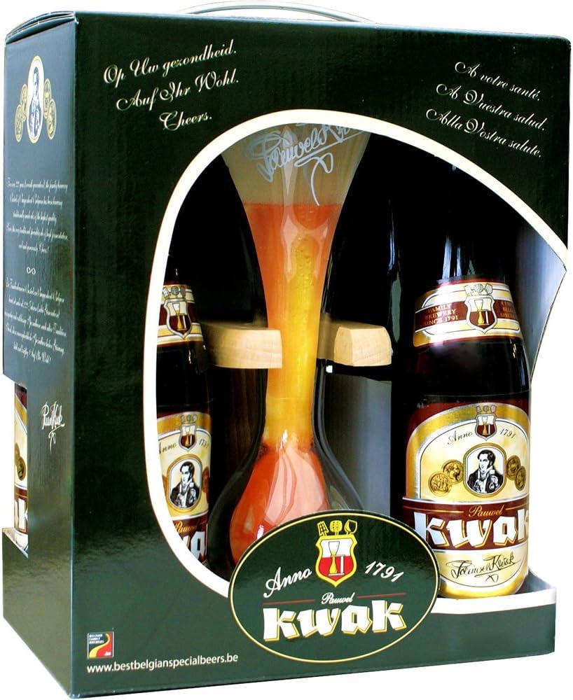 Estuche Pack 4 cervezas Kwak 33Cl. + Vaso Kwak: Amazon.es ...