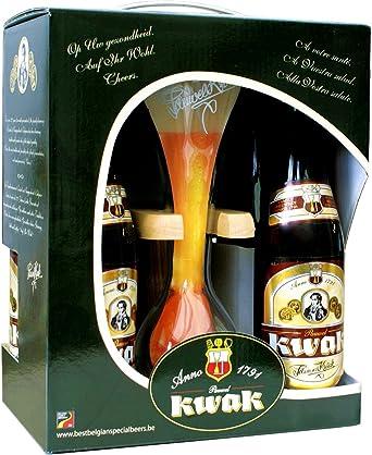 Estuche Pack 4 cervezas Kwak 33Cl. + Vaso Kwak: Amazon.es: Alimentación y bebidas