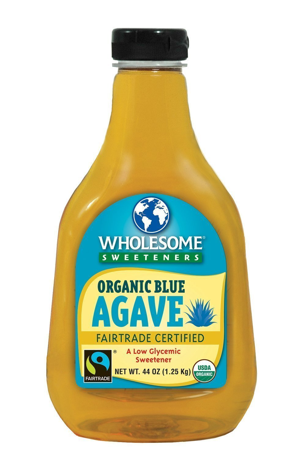 Wholesome Sweeteners Organic Blue Agave, 44-Ounce Bottles (Pack of 4)