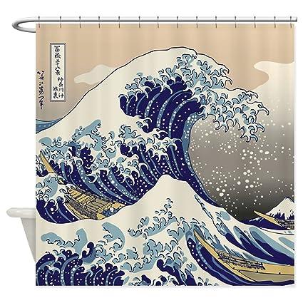 Amazon CafePress Hokusai The Great Wave Shower Curtain