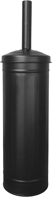 Autumn Alley Black Toilet Brush with Holder Set | Charming Compact Galvanized Farmhouse Bathroom Accessory for Rustic Bathroom Decor | Black Bathroom Accessories