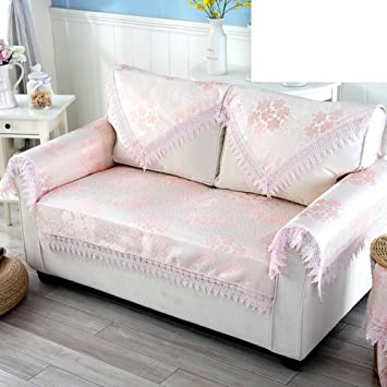 Simple Sofa Cushion Fabric Multi Use Towel Universal Sofa Cover Pink  80x80cm(31x31inch