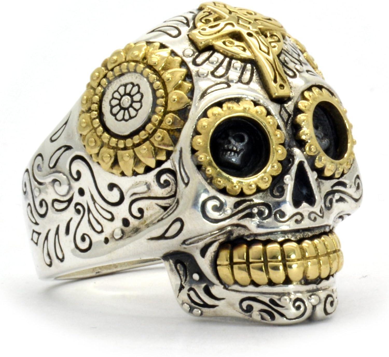 Katrina ring men woman Mexican Calavera skeleton ring Skull stainless steel ring hand made,
