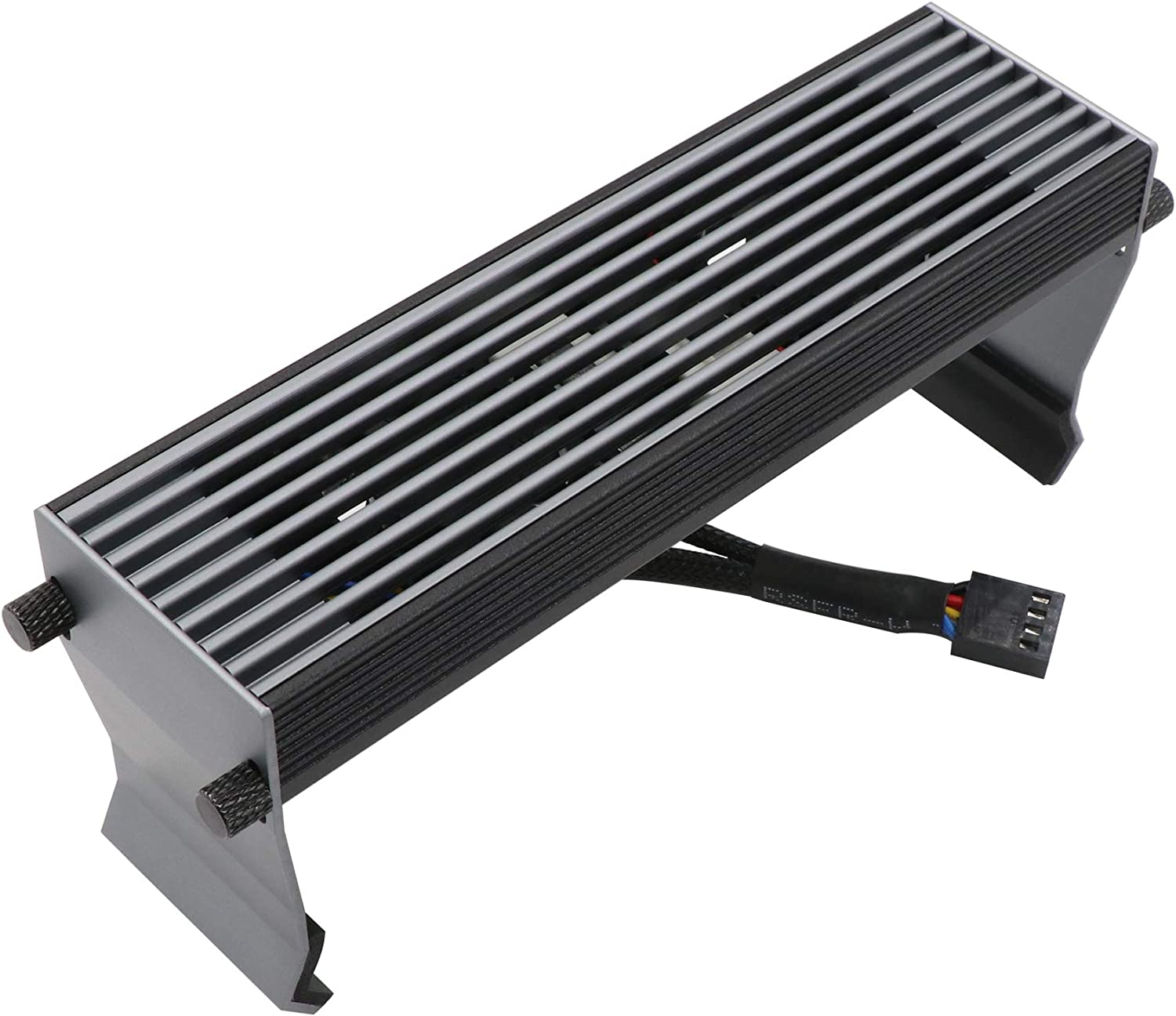 Giryriz Airflow Desktop Memory Cooler Heatsink with 2x30mm Smart Fans, Speed Up to 10000RPM (DMC-U1)