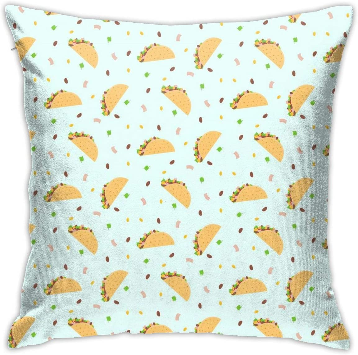 Mexican Food Tacos Throw Pillow Cover 18