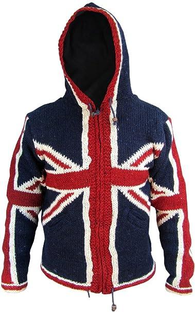 lowest price 3f49c ac2af Little Kathmandu, giacca invernale di lana con cappuccio da ...