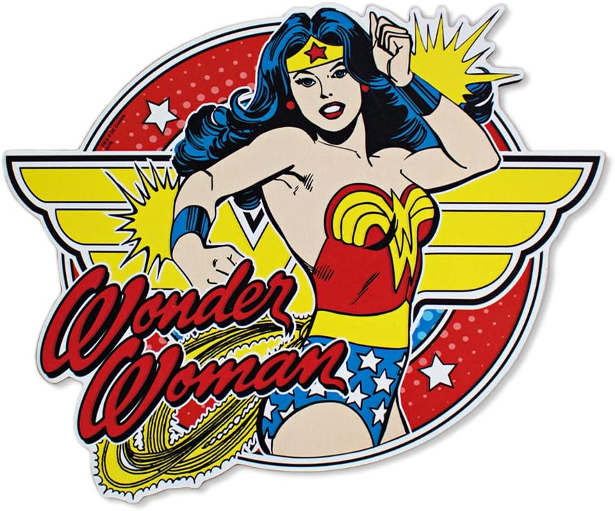 Silver Buffalo WW1106 DC Comics Wonder Woman Posing with Bangles Die Cut Sign, 11.75 x 9 inches