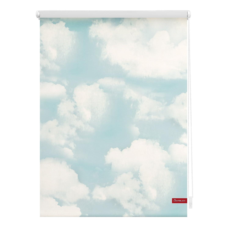 Lichtblick KRT.080.150.357 Rollo Klemmfix, ohne Bohren, blickdicht, Wolken - Blau Blau Blau Weiß 80 x 150 cm (B x L) 817830