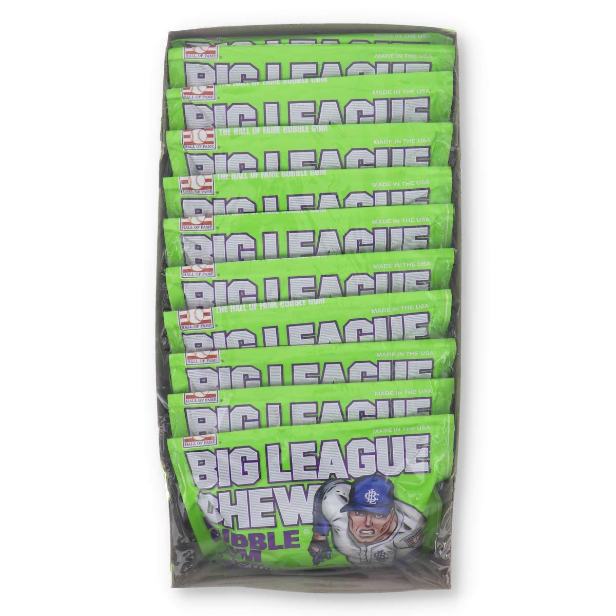 Big League Chew Sour Apple, 12 Count (GUM - BIG SIZE/PLENTY PACK)