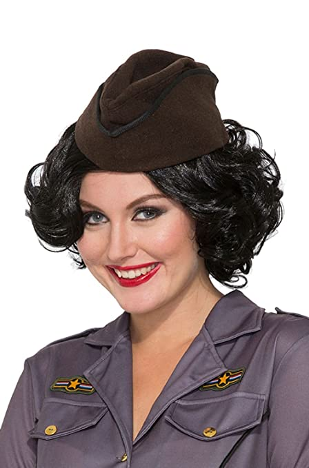 1940s Hats History 1940s Army Military Hat Costume Accessory $25.81 AT vintagedancer.com