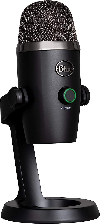 Blue Microphones Yeti Nano Micrófono USB de condensador profesional con múltiples patrones de captación y monitoreo, sin latencia, para grabación y transmisión en PC y Mac, color Negro