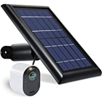 Wasserstein Solar Panel with 13.1ft/4m Cable Compatible with Arlo Ultra & Arlo Pro 3 ONLY - Power Your Arlo Surveillance…
