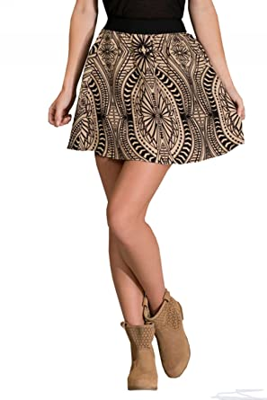 Flying Tomato Women's Geometric Patterned Mini Skirt At Amazon Cool Patterned Mini Skirt