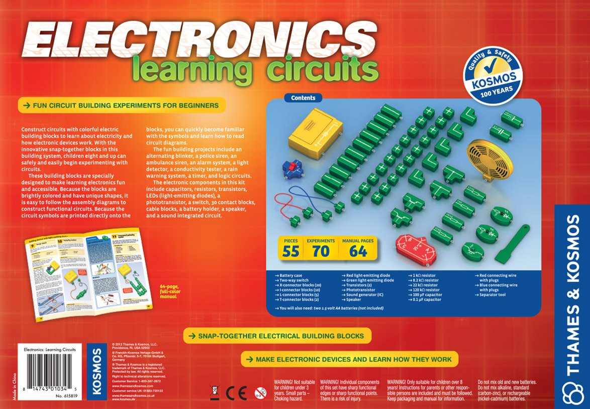 Thames Kosmos Electronics Learning Circuits Toys Games Knowledge Centre 555 Timer Ic Based Simple Project Blinking Led