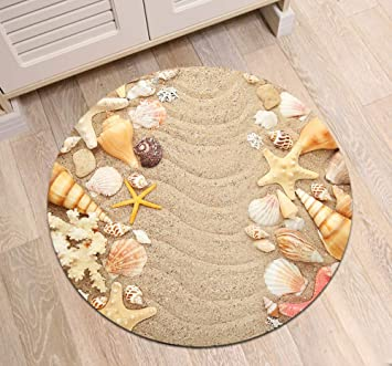 80cm Round Non-slip Shag Area Rug Carpet Kids Play Crawling Mat Rug Carpet Dia