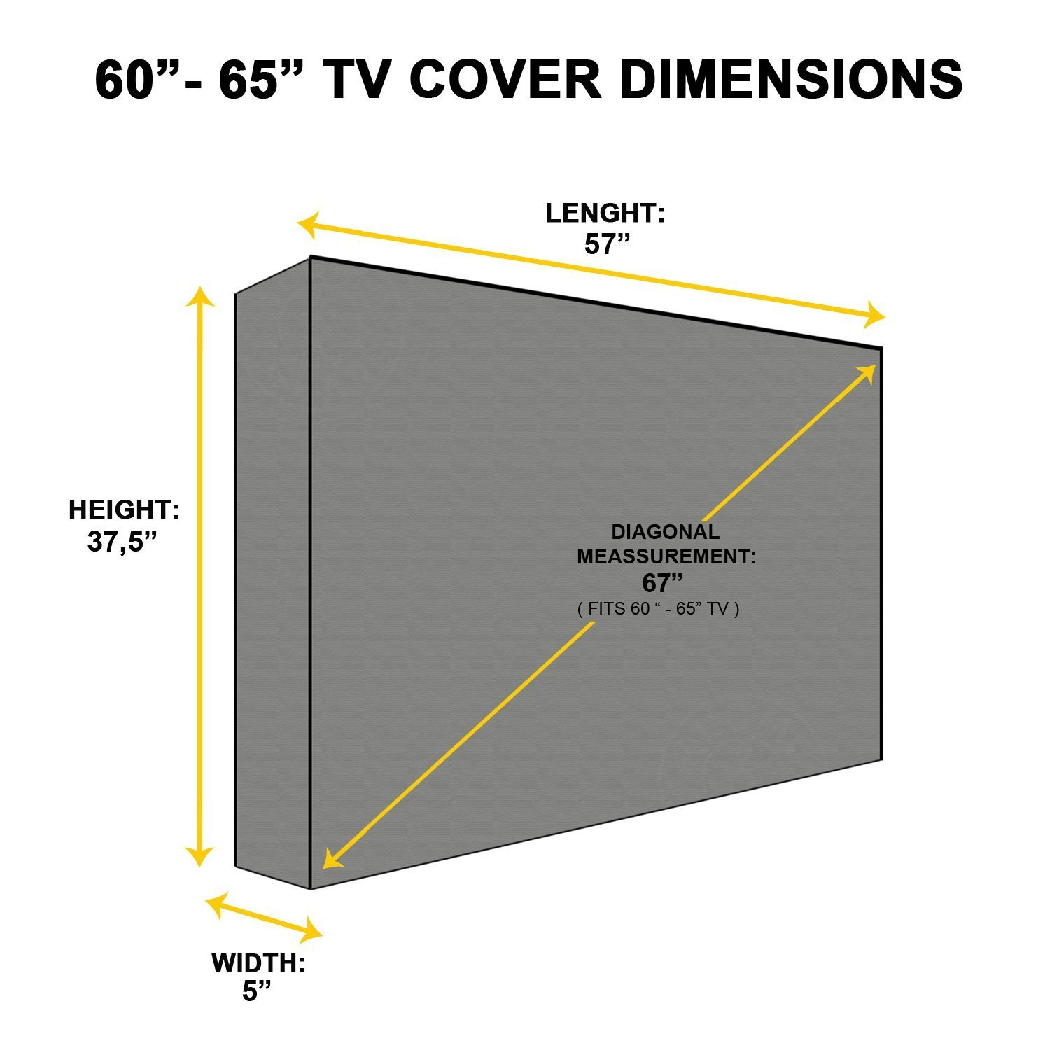 KHOMO GEAR Outdoor TV Cover with Clear Front Universal Weatherproof Protector for 60 - 65 Inch TV - Fits Most Mounts & Brackets by KHOMO GEAR (Image #3)