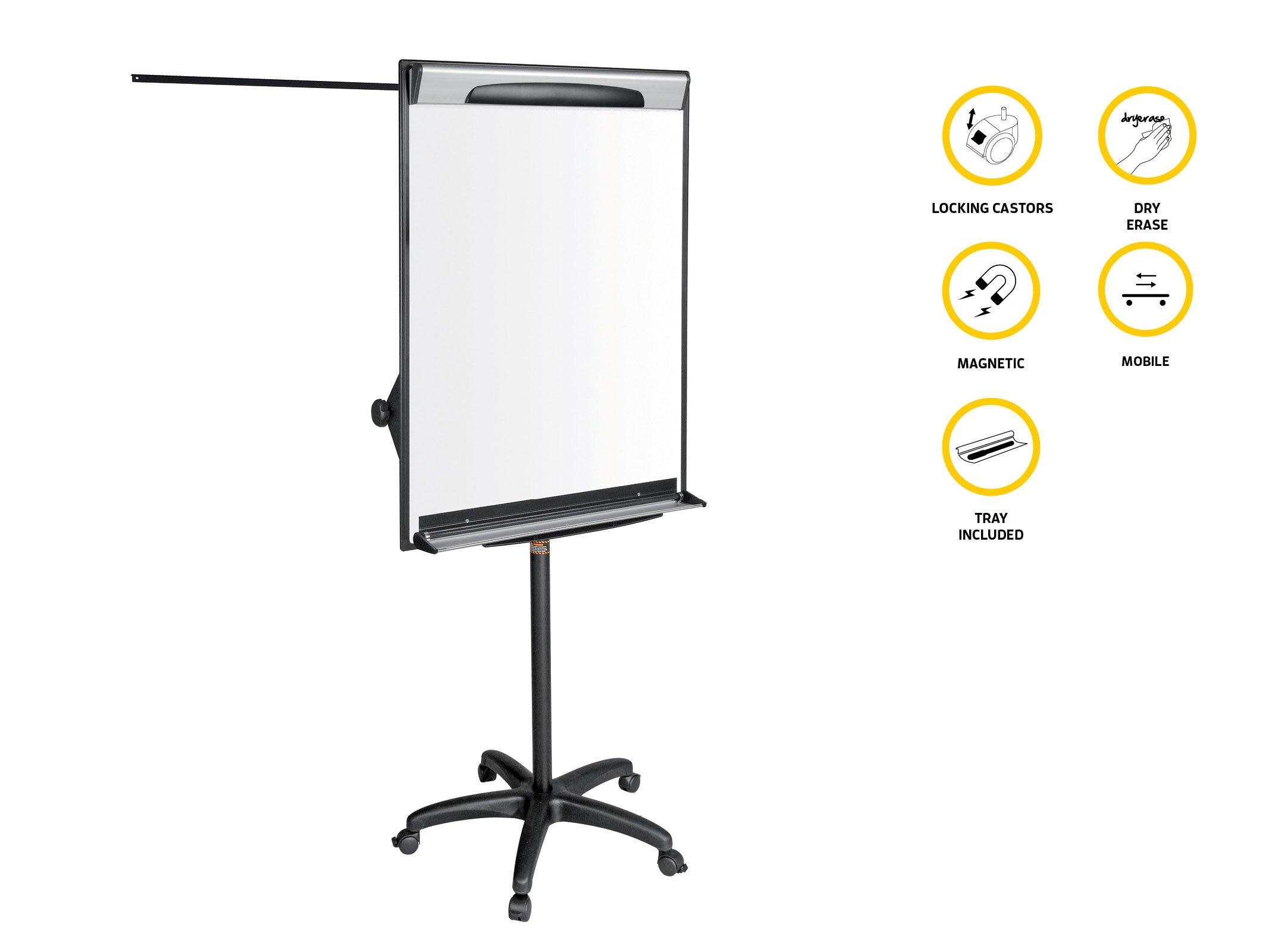 Bi-Silque EA48061823 Mobile Flip Chart Magnetic Design