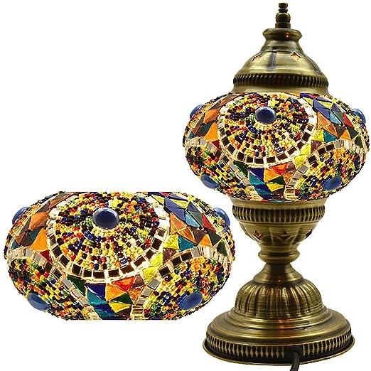 Amazon.com: Turco lámpara, mosaico lámpara, lámpara de mesa ...