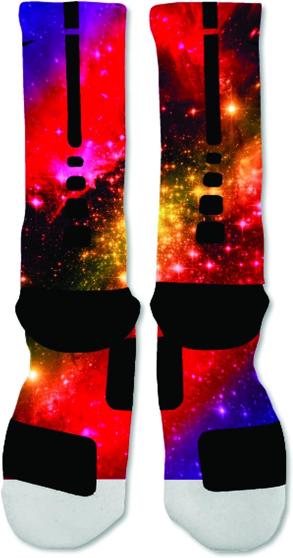 EliteDesignzz Mens Sunset Galaxy Sock