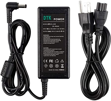 19V 3.42A 65W Connector 5.5 x 2.5mm Dtk Ac Adapter Laptop Computer Charger//Notebook PC Power Cord Supply Source Plug for ASUS//Toshiba//Lenovo Output