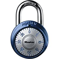Master Lock 1561DAST Combination Dial Padlock, With Aluminum Cover, 1-7/8-Inch Wide, Assorted Colors
