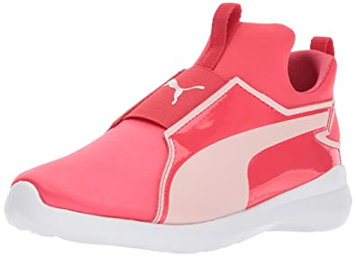 cbb54916f2d6 PUMA Girls Rebel Mid Satin Kids Sneaker Paradise Pink-Pearl 1 M US Little