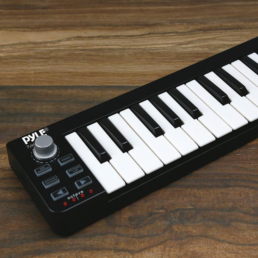 Pyle USB MIDI Keyboard Controller - Upgraded 25 Key Portable Audio Recording Workstation Equipment - Hardware Buttons Control any DAW Software for Computer Music Production - PMIDIKB10_0 by Pyle (Image #5)