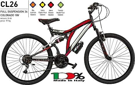 CICLI PUZONE Bicicleta de Talla 26 para Hombre MTB Full Suspension ...