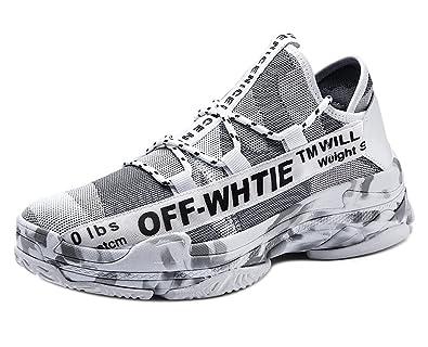 Zapatos para Correr Zapatillas Running Hombre Zapatos de Camuflaje Deporte con Cordones Transpirables Casual: Amazon.es: Zapatos y complementos