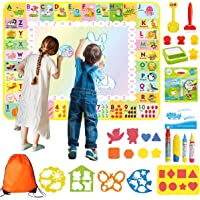 Drawing Doodle mat, Extra large 120 x 90cm, 4 pens, 17 molds along with Free portable Travel Doodle book and Backpack to…