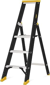 DEWALT DXLD113E Escalera Profesional de Aluminio con 3 peldaños, 3-tread: Amazon.es: Bricolaje y herramientas