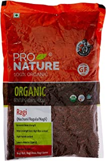 Pro Nature 100% Organic Ragi Millet, 500 g by 'Bharat Bazaar'