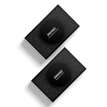 Privise - Tarjeta de Bloqueo RFID/NFC, protección de Tarjetas sin Contacto. No Requiere Pilas, 1 Unidad - Negra