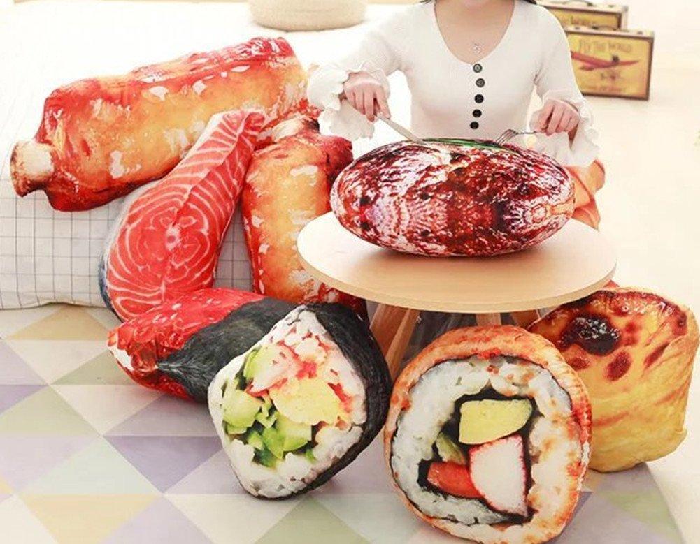 Amazon.com: skyseen Simulación 3d Sushi Arroz almohada ...
