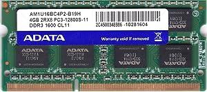 AM1U16BC4P2-B19H GENUINE ADATA 4GB PC3-12800 DDR3 LAPTOP MEMORY