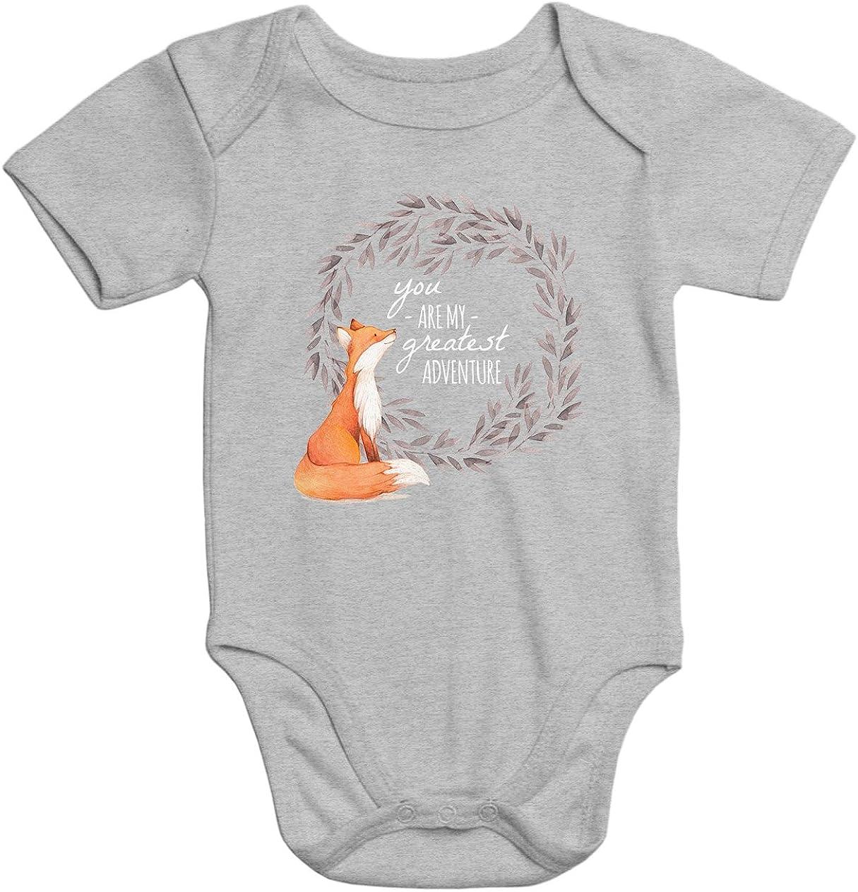 MoonWorks s/ü/ßer Kurzarm Baby-Body mit Aufdruck You Are My Greates Adventure Fuchs Fox Liebe Bio-Baumwolle