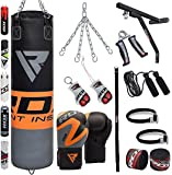RDX Sac de Frappe Rempli Lourd MMA Punching Ball Kickboxing Muay Thai Arts Martiaux Boxe Avec Gants Chaine Suspension support Mural Punching Bag