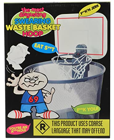 amazon com swearing waste basket hoop most disgusting toys games