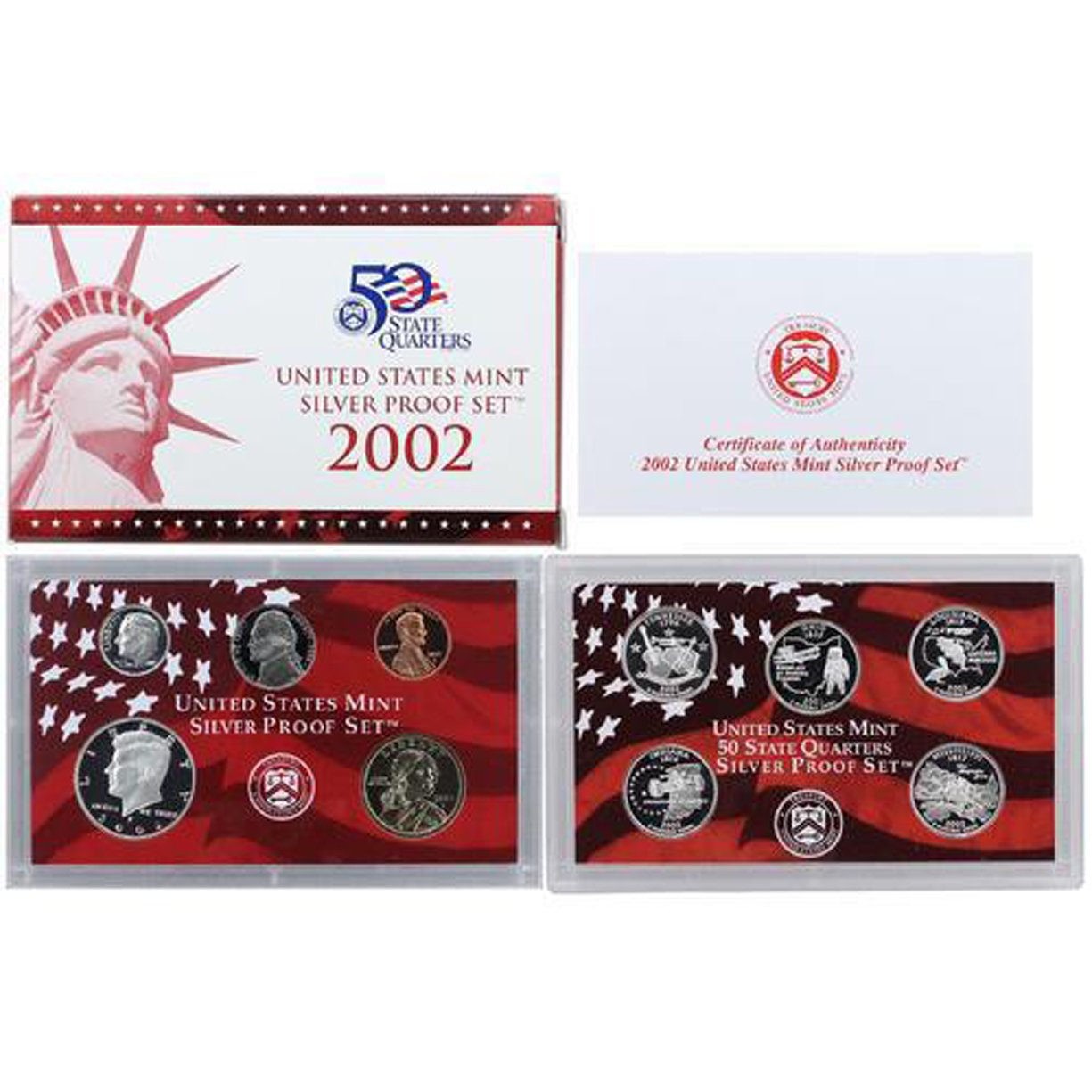 2002 PROOF SET INCLUDES THE STATE QUARTERS...FREE SHIPPING AS ALWAYS