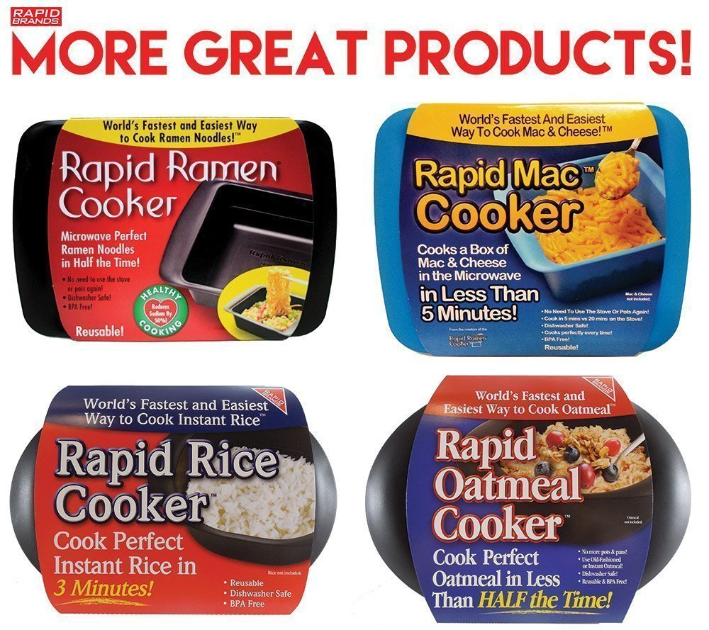 Rapid Ramen Cooker - Microwave Ramen in 3 Minutes - BPA Free and Dishwasher Safe (Four Black) by Rapid Brands (Image #8)