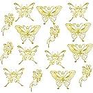 レジン枠 空枠 MUNCVY フレーム パーツ ゴールド 3種15個 セット uvクラフト 大量 カン付き 蝶 和風 美しい セッティング アクセサリーパーツ から枠 ペンダント ハンドメイド 手作り uvレジン