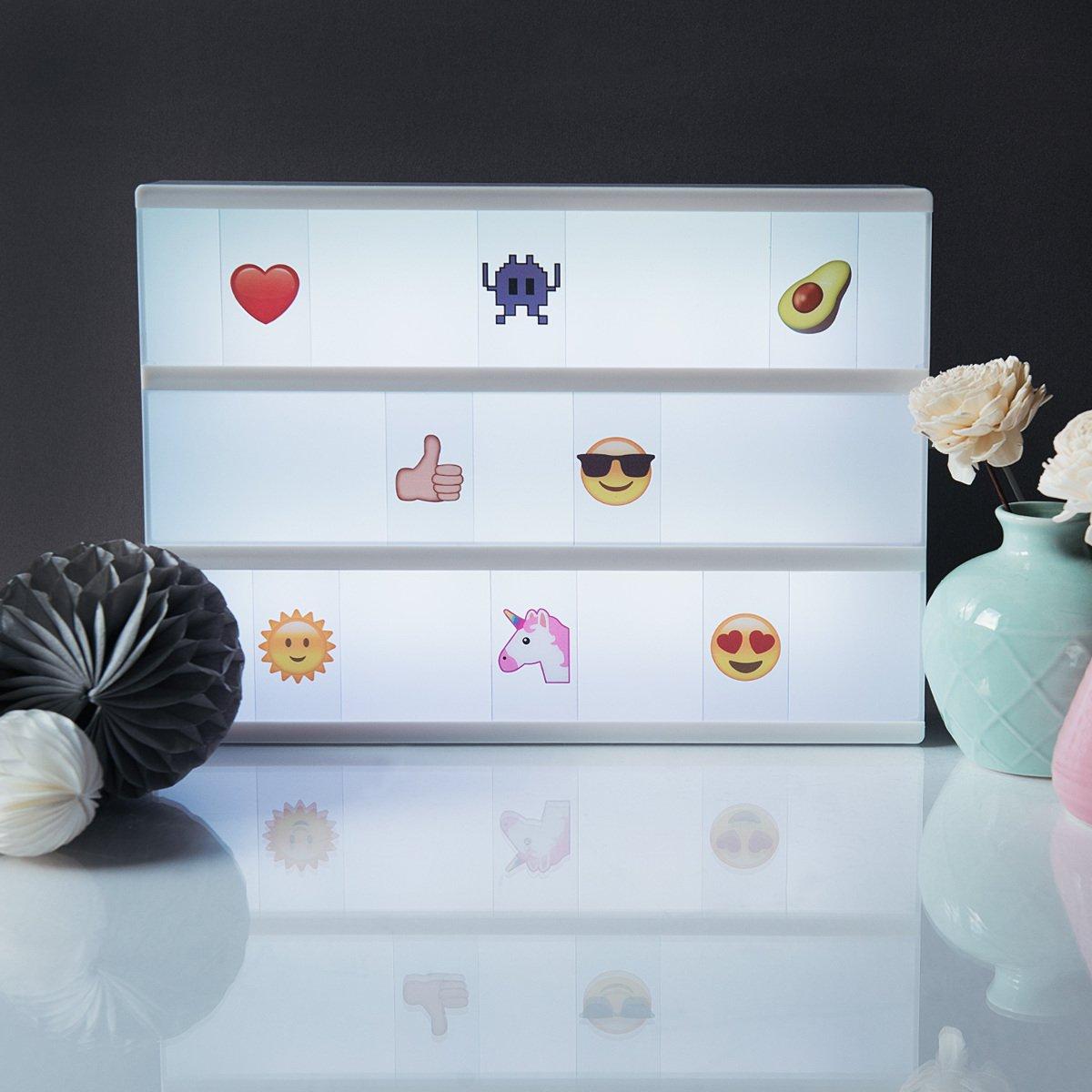 Set complementario de Emojis para Panel de Cine kwmobile Set de emoticones para Caja de luz LED cinematogr/áfica 126x Emoji para Lightbox A4