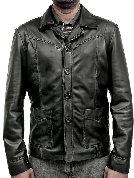 Superior Leather Garments Matarlos Funda de Piel Chaqueta de Softly Brad Pitt en la película de Pared para Abrigos: Amazon.es: Ropa y accesorios