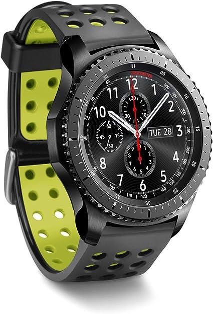 Greatfine 22mm Silicona Banda de Reloj de Correa para Samsung Gear ...