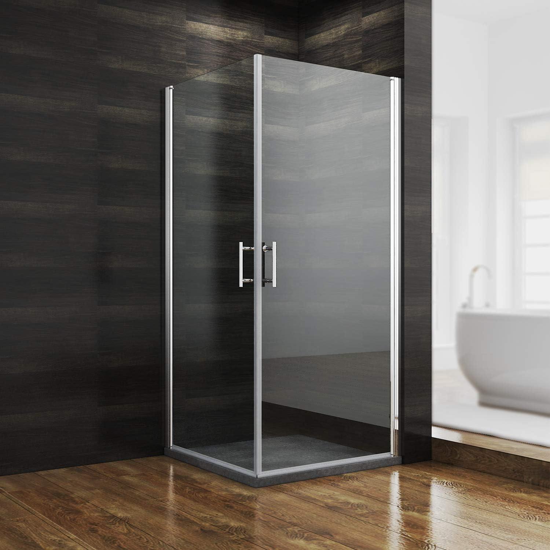 De nuevo para apertura de 1400 mm para pared doble puerta corredera de ducha 2-galvanizada de cristal: Amazon.es: Hogar